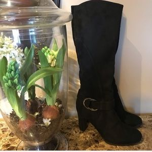 Impo Odalis Tall Black Suede Fashion Boot